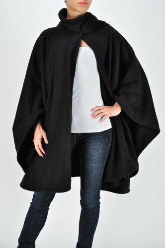Plus Size Night Black Cape -- Size:one size Color:Black Fashion Love. $45.00