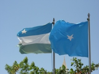Puntland and Somali Flags