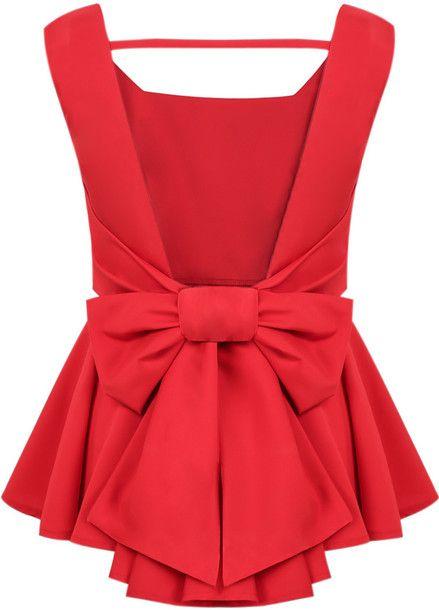 Pretty red #peplumtop