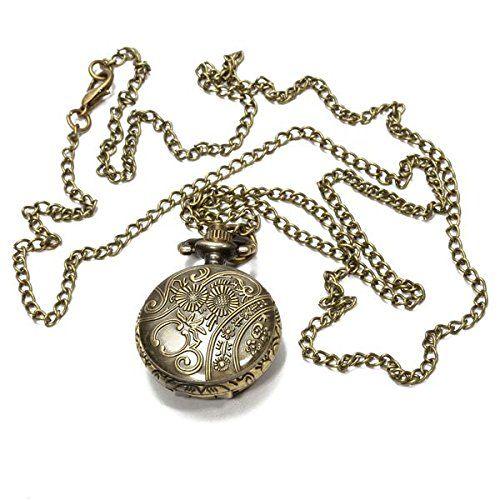 >> Click to Buy << Round Quartz Pocket Watch Bronze Necklace Saudi number Hollow Flower #Affiliate
