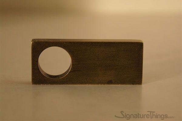 Rectangular Single Finger Pull Finger Pull Brass Cabinet