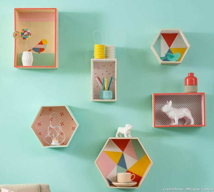 Les 25 meilleures id es de la cat gorie chambres couleur for Etagere chambre d enfant