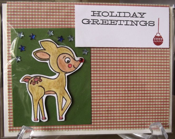Christmas card that I made using Close to my Heart stamps,ink and watercolour pencils.