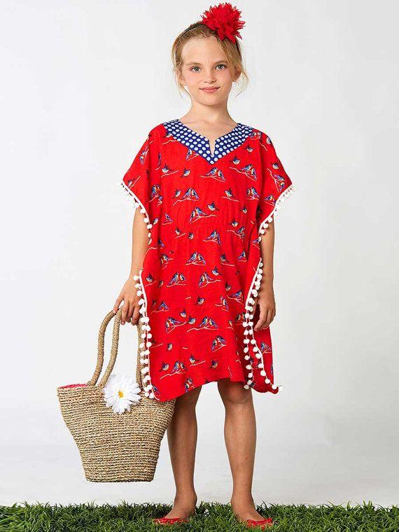 Girls kaftan pattern PDF Childrens sewing por MyChildhoodTreasures