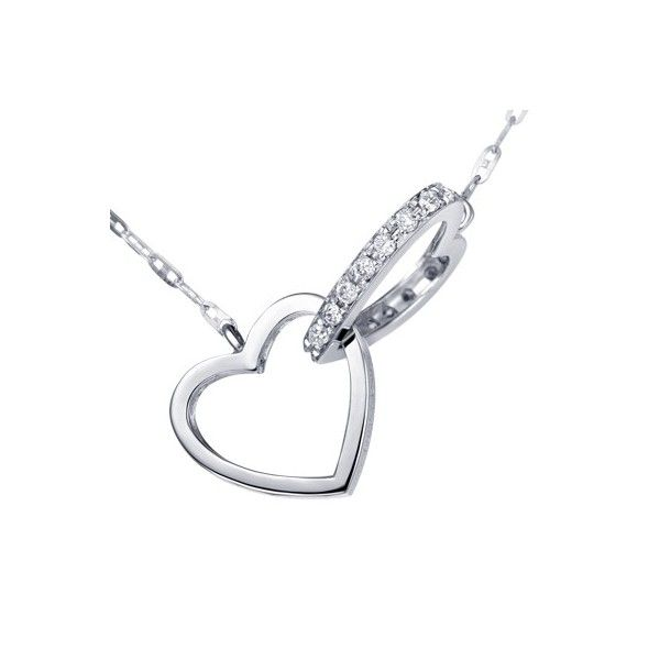 Heart Shape Unique Diamond Pendant