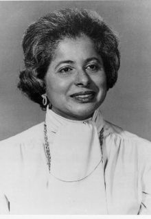 Patricia Roberts Harris (May 31, 1924 – March 23, 1985)  was the first African American woman to serve as a US Ambassador, representing the US in Luxembourg under President Lyndon B. Johnson, and the first to enter the line of succession to the Presidency when she was appointed Secretary of Housing and Urban Development under President Jimmy Carter. She had previously been Dean of the Howard University Law School and the first national executive of Delta Sigma Theta. #TodayInBlackHistory