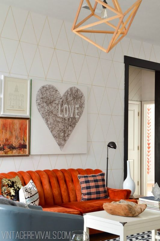 Love String Art Living Room@ Vintage Revivals