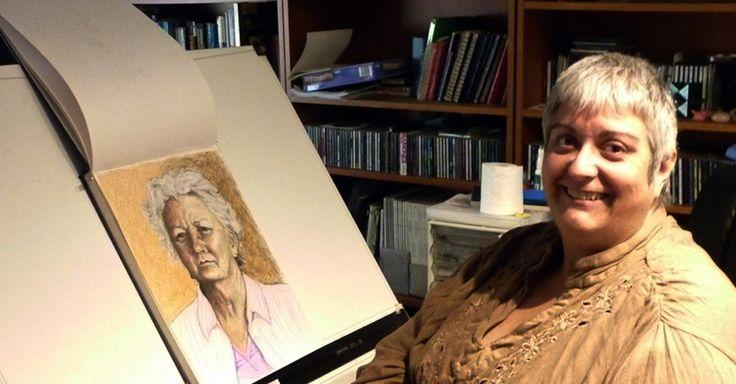 Denise Brown in her drawing studio