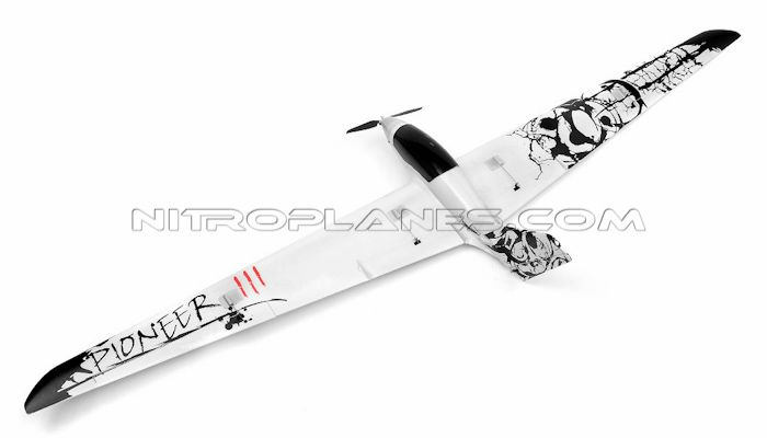 """NEW 4 Channel AirWingRC Pioneer Glider 96"""" Electric RC Airplane Kit"""