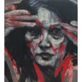 """Misuzu 2"" William Stoehr - Artist Original Acrylic Painting on Canvas 40"" x 36""  $3,000.00 - See more at: http://gallerystthomas.com/art-medium/acrylic-paintings/william-stoehr-misuzu-2.html#sthash.SaL7eCy5.dpuf"