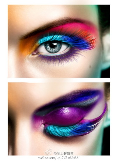 .: Beautiful Makeup, Fashion, Eye Makeup, Dramatic Eye, Art, Vibrant Colors, Makeup Eye, Eyemakeup, Bold Colors
