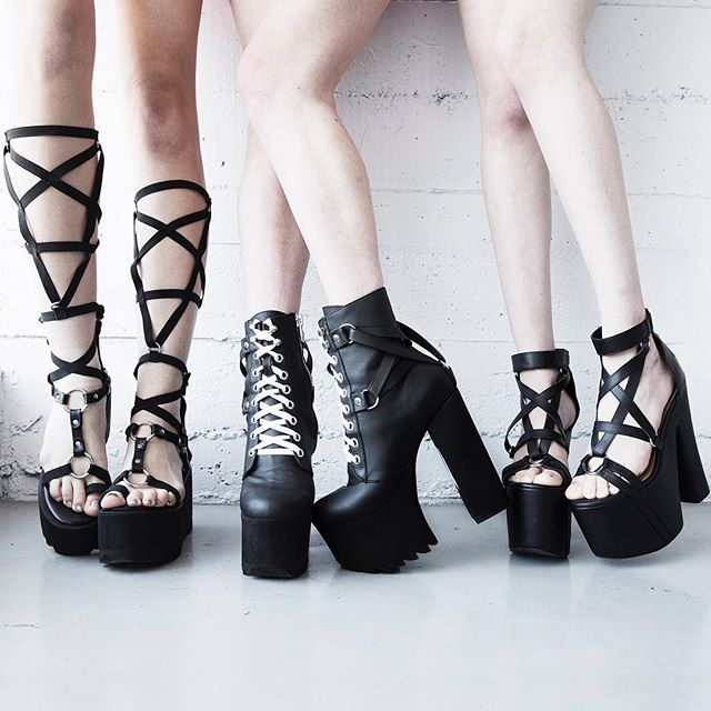 psycho path: I need the boots in the middle to go with a pair of thigh high tights I have for a music video