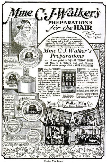 Madame CJ Walker Hair Advertisement - Crisis Magazine, 1920