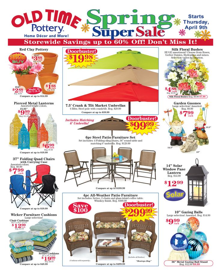 Sale Flyer - Old Time Pottery