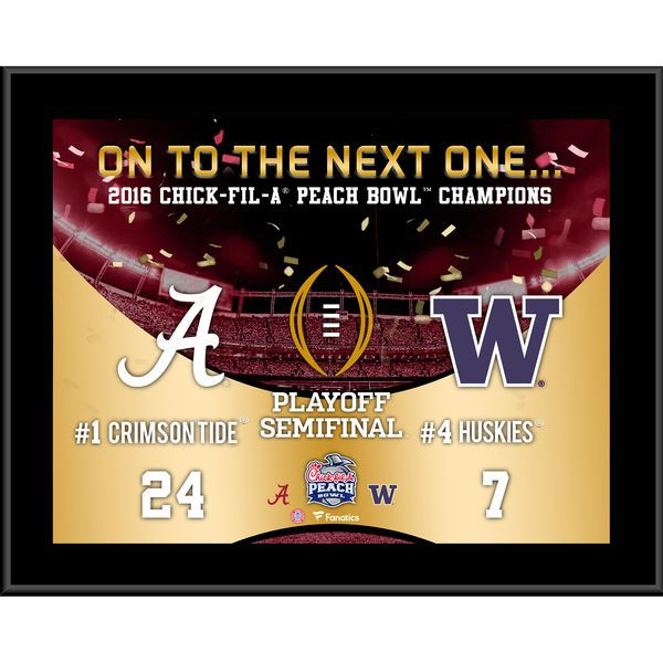 "Alabama Crimson Tide Fanatics Authentic 10.5"" x 13"" 2017 College Football Playoffs 2016 Peach Bowl Champions Sublimated Plaque - $29.99"