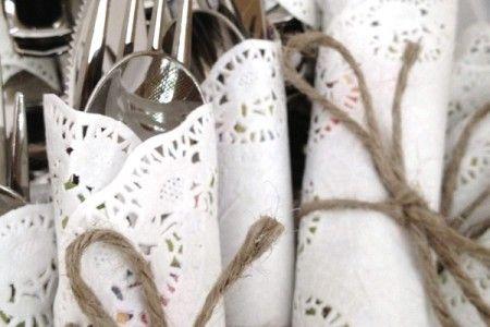 dukningstips bröllop spets