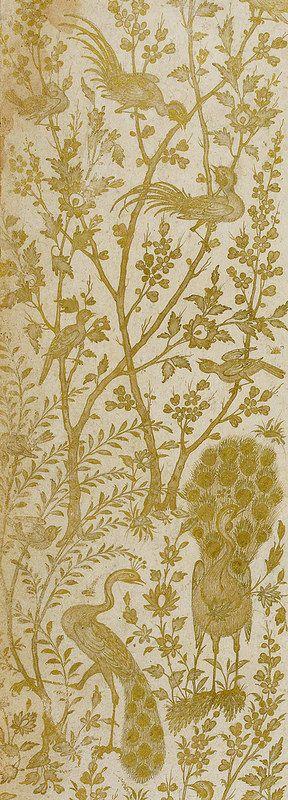 تشعیر حاشیه برگی از خمسه نظامی، مخزن الاسرار، صفحه 6، 1539 تا 1543 میلادی، محل نگهداری کتابخانه بریتانیا The Khamsah, or five poems Makhzan al-asrār F.6r 1539-1543 British Library