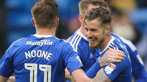 Well done boys! Cardiff 3-1 Ipswich Town. Two goals from Zohore and Joe Bennett's first goal for City