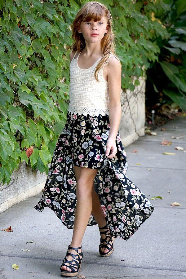 9edfa8dfdf48 Truly Me Maxi Skirt Floral Romper PREORDER