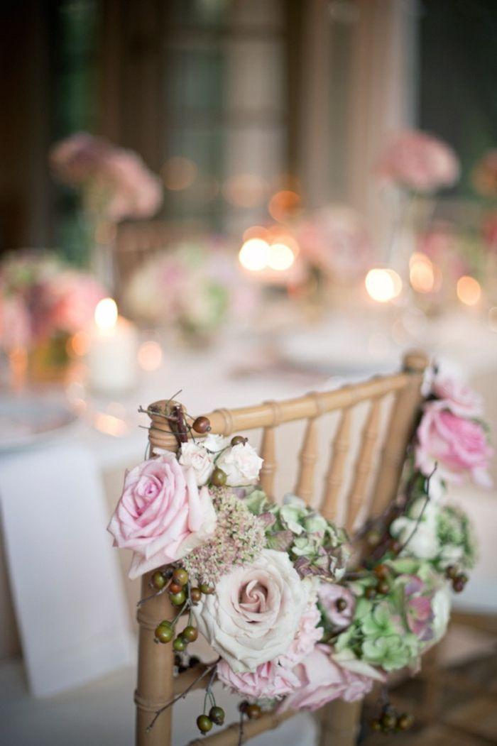 décoration originale pas cher et jetable avec fleurs pour votre mariage