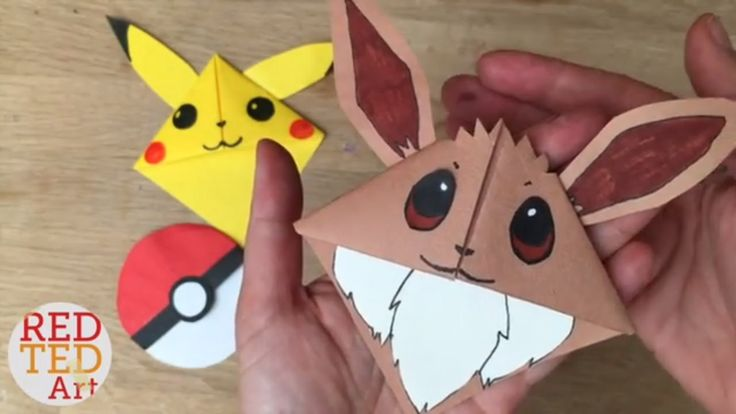 Easy Eevee DIY - Pokemon Bookmark Corners - Origami Inspired - Pokemon Go