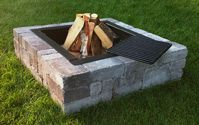 Square Victorian Fire Pit with Cooking Grate