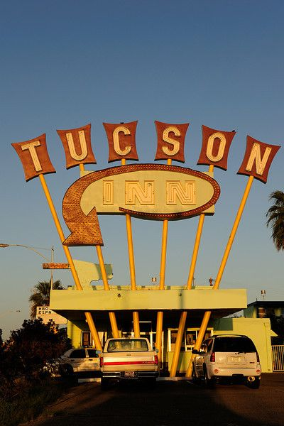 """The Tucson Inn, a great """"Googie"""" style sign from the 50's."""