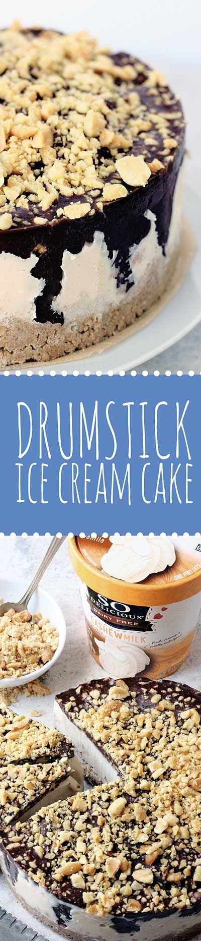 The Drumstick Ice Cream Cake — A summer classic recreated. Dairy-Free, Gluten-Free & Vegan! @floandgracemag