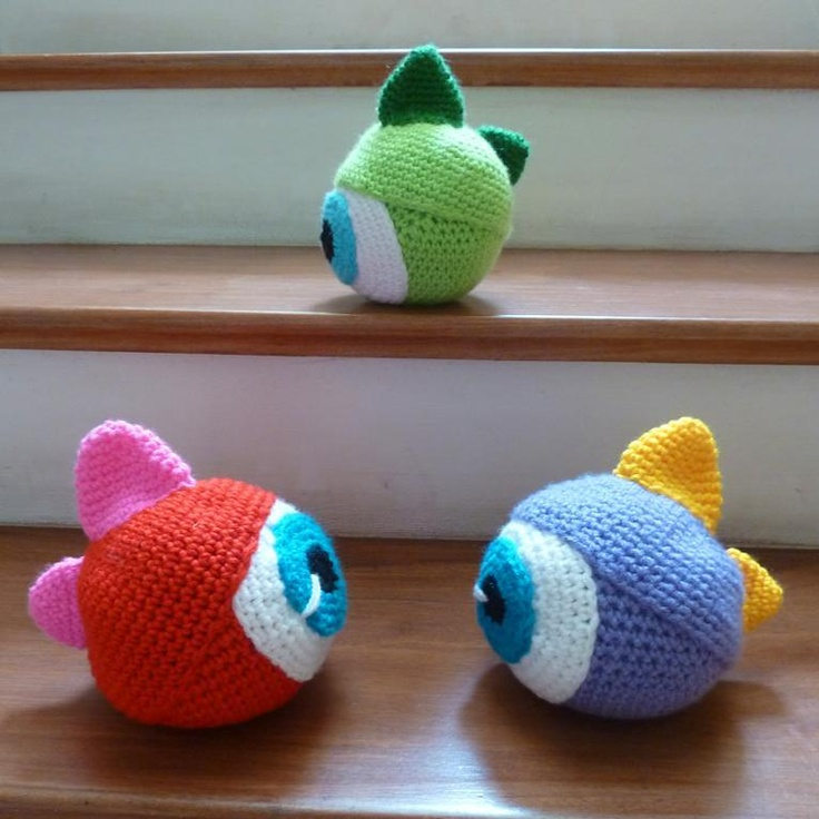 Amigurumi Eyes Patterns : Amigurumi Monster Toy halloween scary EYE pattern by Sol ...