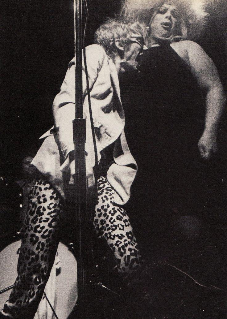 stiv bators (the dead boys) and divine at CBGB's 1978