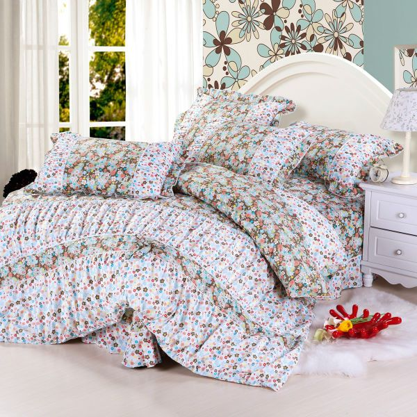 Aliexpress.com : Buy Pure Korean Twill reactive printed 4pcs bedding sheet with bowknot quilt cover,lace bed sheet,lotus leaf pillowcase Bedding set from Reliable bedding sheet suppliers on Kaifei Home Textile $70.00