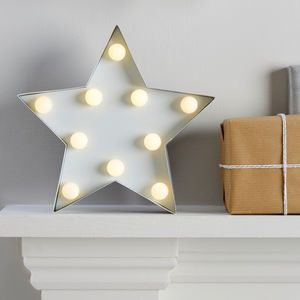 Light Up Metal Star Sign Decoration - view all sale items