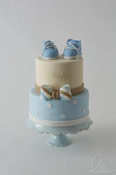 Blue baby shower cake for little boy