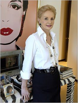 How to wear a white shirt - Carolina Herrera