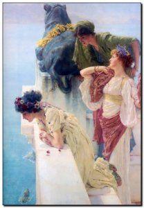 Schilderij Alma-Tadema, Coign of Vantage 1895http://www.mypainting.nl/detail/1110277-schilderij-alma-tadema-coign-of-vantage-1895