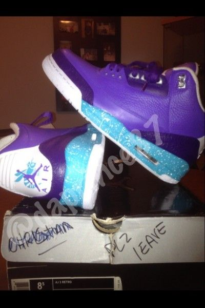 Air Jordan 3 'Summit Lake Hornets' Custom Custom sneaker designer, Da  Prince Customz, has been hard at work crafting his own interpretation of  the Nike ...