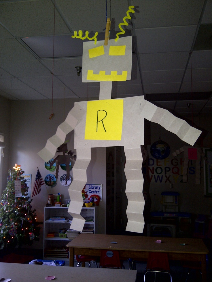 'R' is for robot.