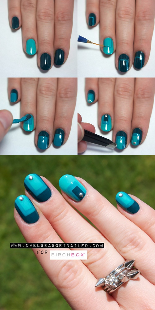 Best 25 color block nails ideas on pinterest subtle nail art how to monochromatic color block nail art prinsesfo Images