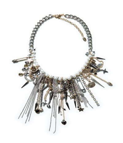 PEARLS AND CHAINS COMBINATION NECKLACE from Zara