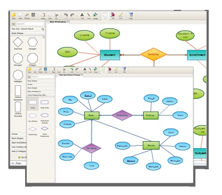 ER diagrams software by Creately to easily visualize your database structures.