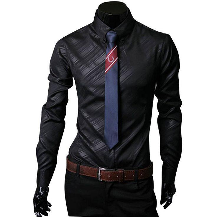 Long Sleeve Camisa Masculina Slim Comfort Soft Men S