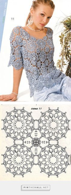 Crochet Blouse - Free Crochet Diagram - (crochetemoda.blogspot)