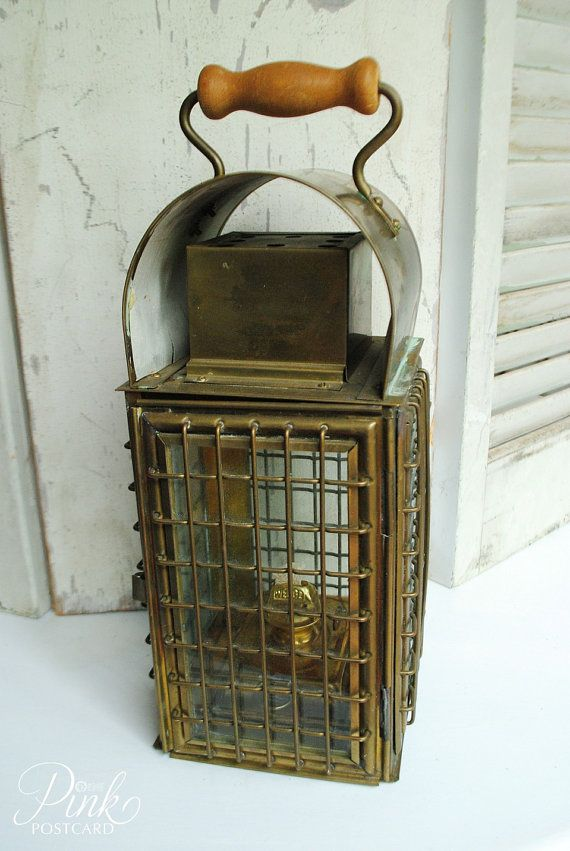 Vintage Wedge Nautical Brass Lantern A Amp T Pinterest
