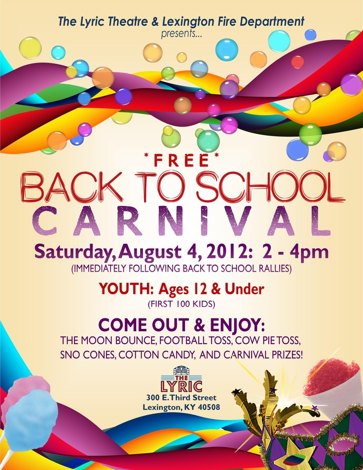 Back To/End of School Carnival | Events of Interest ...