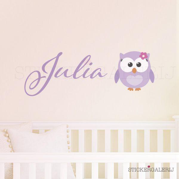 Muursticker babykamer met baby uil #babykamer #wanddecoratie #inspiratie #kinderkamer #muursticker #wolkjes #baby #roze #blauw #groen #peuter #kwaliteit #design #uniek #nederland #zwanger #zwangerschap #pasgeboren #interieur #muur #wand #doehetzelf #diy #liefde #stickergalerij  Voor de volledige collectie kijk op: www.stickergalerij.nl