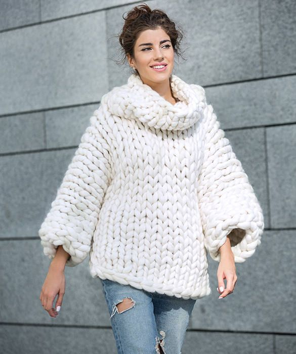 Set the trend this season with our stylish and comfy chunky must-have Marshmellow Sweater in a plethora of vivid colors.