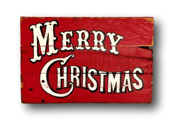 Rustic Christmas Sign / Vintage Merry Christmas by PalletsandPaint