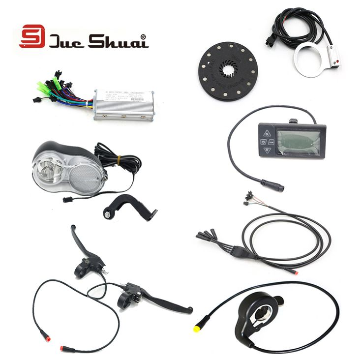 JS 36V 48V  Electric Bicycle Components Kit with 250W 500W Controller Head Light Waterproof LCD Display PAS DIY Cycling Parts