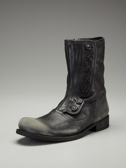 Soft Leather Button Up Boots by John Varvatos Footwear on Gilt