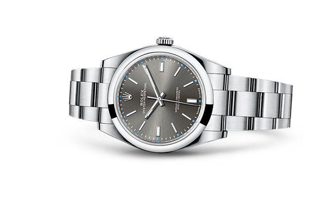 Entdecken Sie die Oyster Perpetual 39 Uhr in Edelstahl 904L auf der offiziellen Website von Rolex. Modell: 114300